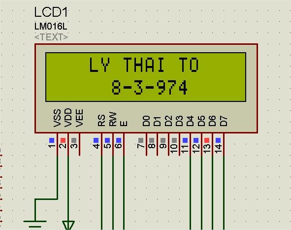 Điều khiển hiển thị LCD sử dụng Vi điều khiển 8051 phần 2